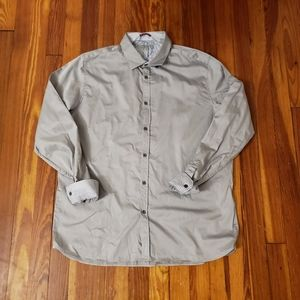 Ted Baker London Mens Luxury Button Front Shirt Si